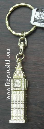 LONDON BIG BEN METAL KEYRING ENGLAND UK SOUVENIR GB KEY RING GIFT